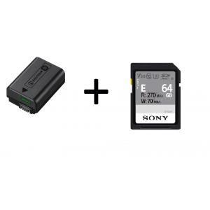 Kit de Bateria NP-FW50 + Tarjeta SD Sony Clase 10 64GB SFE64