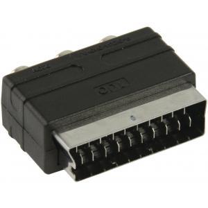 Adaptador de Cable SCART 3 x RCA Negro