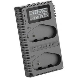Nitecore UCN4 Pro - Cargador Doble para Canon LP-E4 y LP-E4N