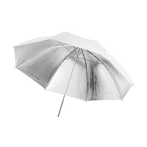 Paraguas Ultrapix blanco y plata 91 cm