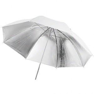 Paraguas Ultrapix blanco y plata 101 cm