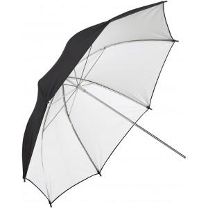Paraguas reversible blanco y negro 91 cm
