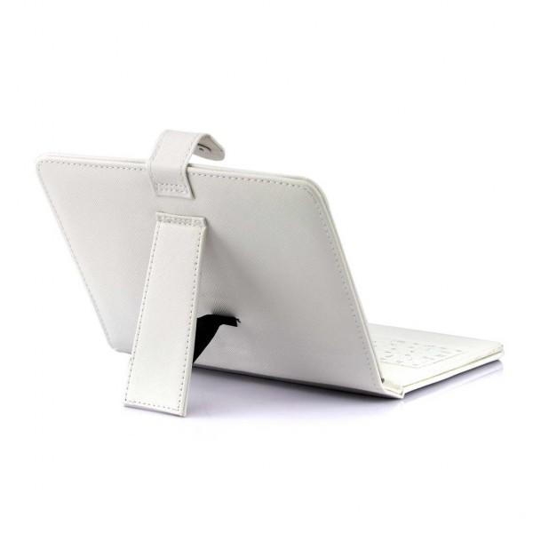 """Funda con teclado 7"""" Blanco"""