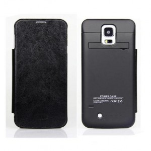Funda con powerbank móvil Galaxy S5 Negro
