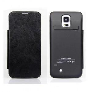 Funda con powerbank móvil Galaxy S5 Negro