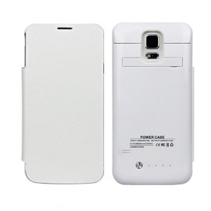 Funda con powerbank móvil Galaxy S5 Blanco