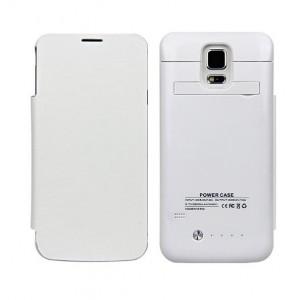 Funda con powerbank móvil Galaxy S5 Blanco