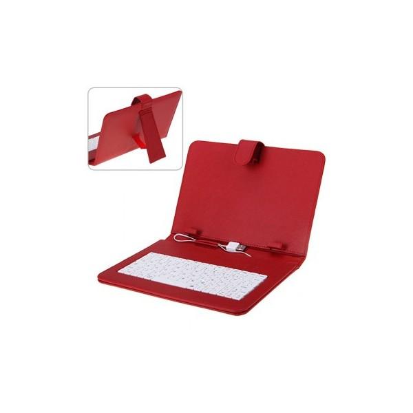 Funda con teclado y bluetooth 10.1 Rojo