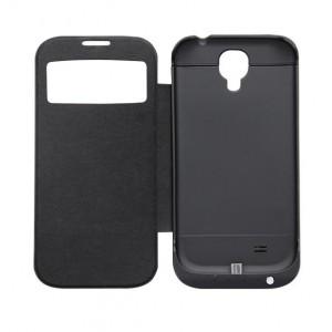 Funda con powerbank móvil Galaxy S4 Negro