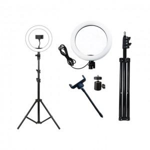 Aro de luz Led Ultrapix de 26cm + soporte y adaptador de movil