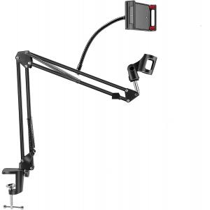 Soporte sobremesa brazo articulado para movil y micrófono UPFK-25C