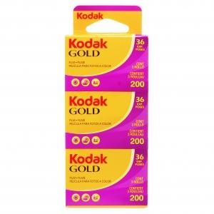 Carrete Kodak Gold 200 de 36 exp Pack 3