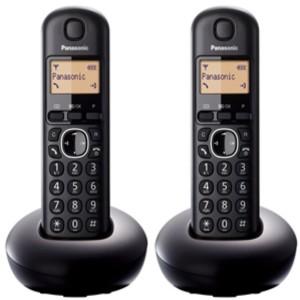 Teléfono inalámbrico digital Panasonic KXTGB212SPB Duo Negro