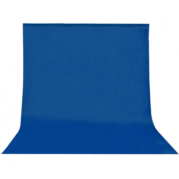 Fondo de tela para kit de estudio azul