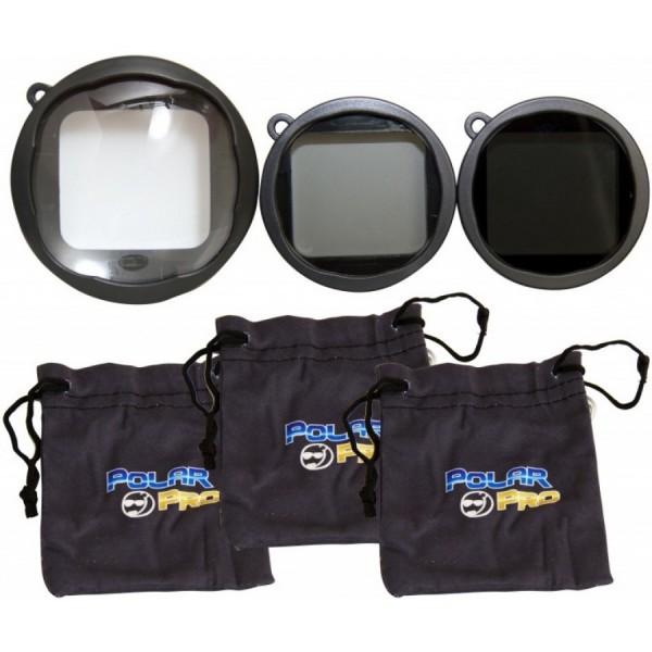 Filtros de 3 filtros PolarPro para GoPro Hero3+ y Hero4