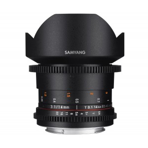 Samyang 14mm T3.1 VDSLR II para Canon